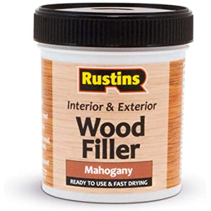 Rustins wood filler Mahogany 250ml