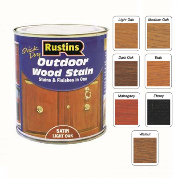 Rustins Woodstain satin Teak 1ltr
