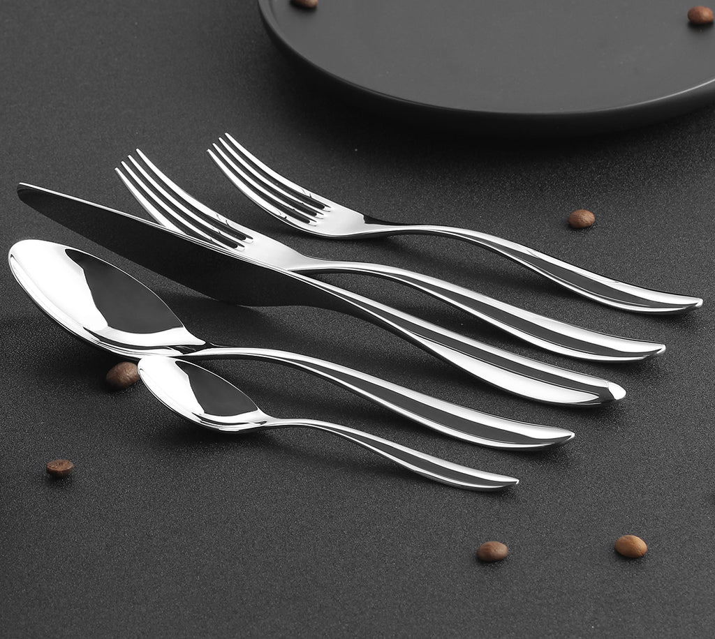 LEKOCH® Best High Quality Silver Flatware Set Of 30 - lekochshop
