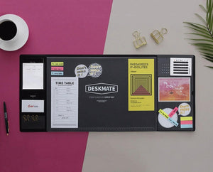 The PNK Stuff Desk Pad Black Multi-Functional Desk Pad with Calendar and Planner