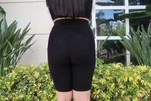 Load image into Gallery viewer, BOSS BABE Black Biker Shorts