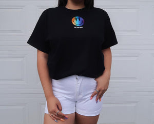 SMILEY RAINBOW HOLOGRAPHIC SHIRT