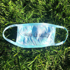 Aqua Tie-Dye Cotton Mask