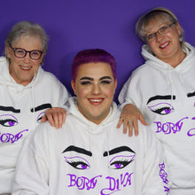 Load image into Gallery viewer, Born To Be Me Purple Hoodie