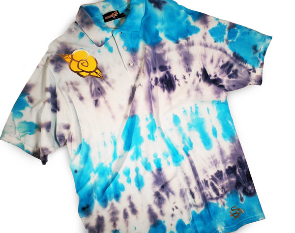 Golden Rose Men's Tie-Dye Polo