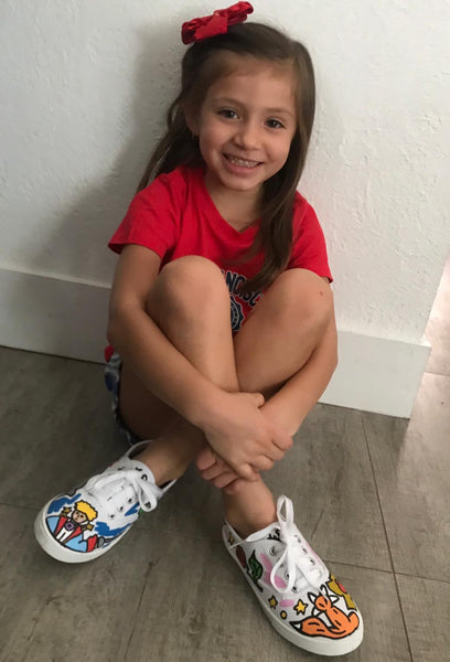 GusColors Kids Custom Painted Shoes