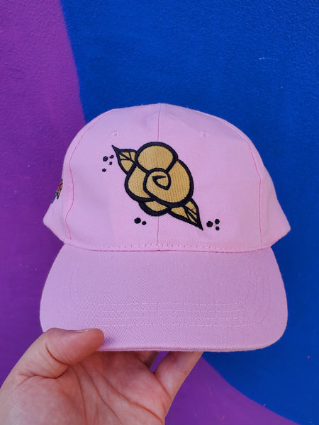 Golden Rose Pink Canvas Cap
