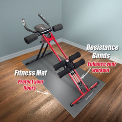 Fitness Mat & Resistance Bands Combo Pack