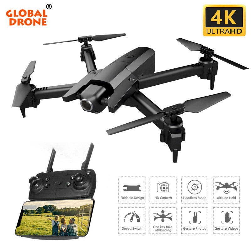 Global Drone 4K Drones with Camera HD RC Helicopter Foldable Quadcopter FPV Quadrocopter Drone X Pro Dron VS E58 E520S SG106
