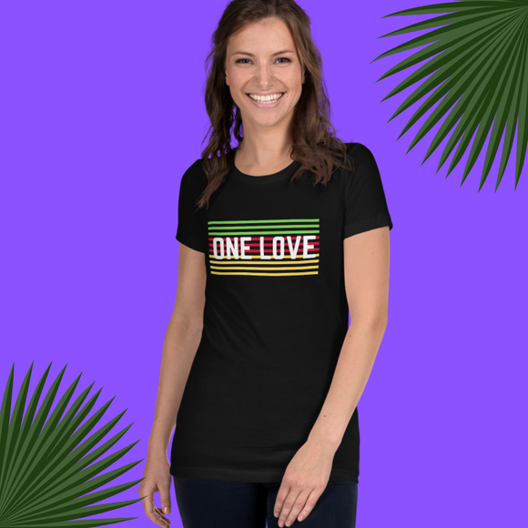 One Love Slim Fit Women's Tee
