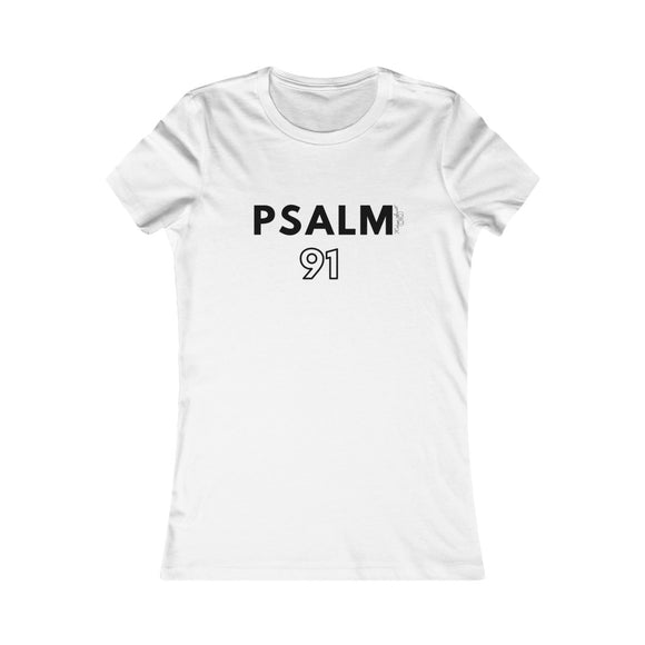 NEW* Psalm 91 Women's White Fitted Tee