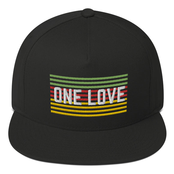 One Love Flat Bill Cap
