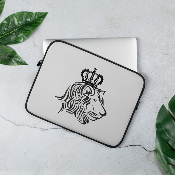 King Lion Light Grey Laptop Sleeve