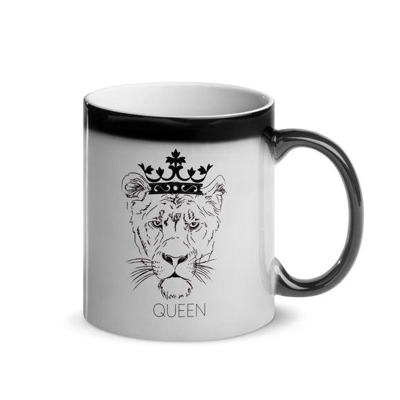Queen Lioness Glossy Magic Mug