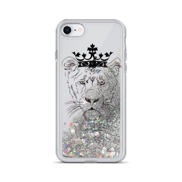 Lioness Queen Liquid Glitter Phone Case