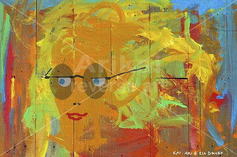 Girl with sunnies.  Australian original art print.
