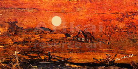 Moonlighting. Australian original art print.