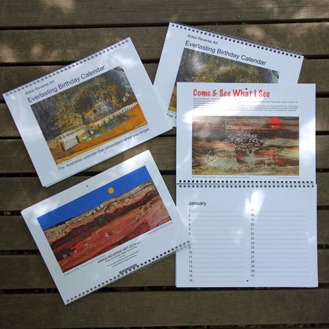 Everlasting Birthday Calendar. landscapes