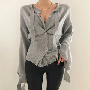 Casual Tapered Cardigan