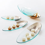 Annieglass Gold Dipped Oval Servers