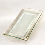 Annieglass Metal Band Appetizer Tray