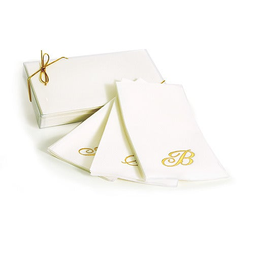 Monogrammed Paper Guest Towels