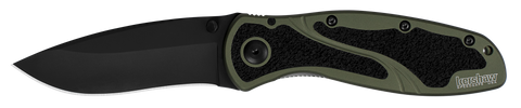 1670OLBLK Kershaw Blur Olive/Black Assisted Opening Knife