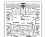 KNAFS KNIFE POSTER A MODERN GUIDE TO KNIVES 24x36""