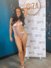 Load image into Gallery viewer, Rose Gold Snake Print Tie Swimsuit - Ibiza Fest Wear