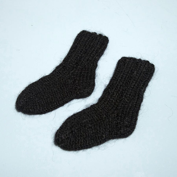 Hand Knitted Black Socks