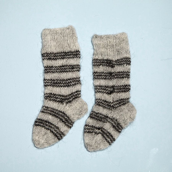 Hand Knitted Striped Stockings