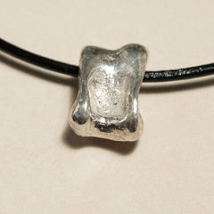 Silver and Leather Pendant