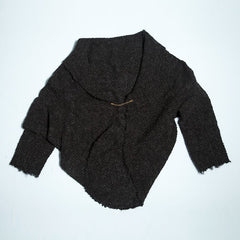 Fringed Wool Knit Jacket