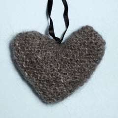 Hand Knitted Heart Ornament
