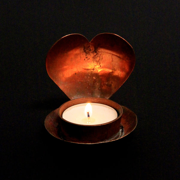 Hand Hammered Copper Votive