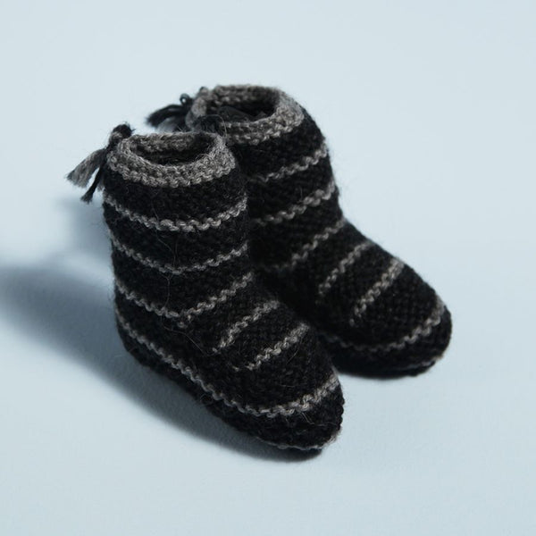 Striped Baby Bootie
