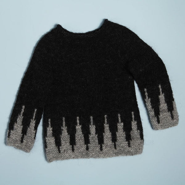 'Midnight Sun' Girl's Sweater Dress