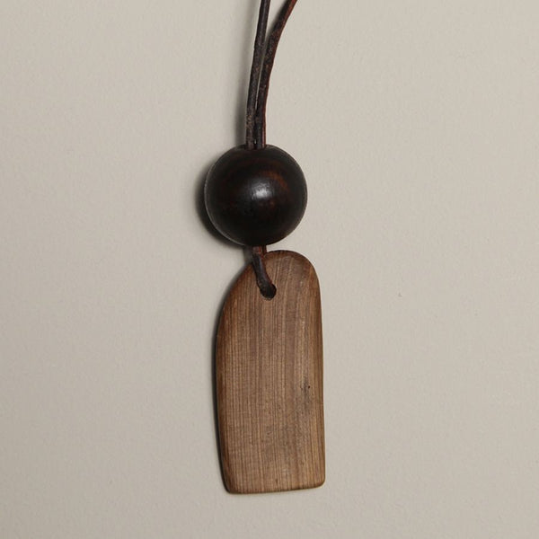 Driftwood and Leather Pendant