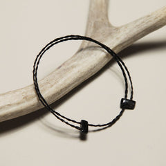 Sheep Horn and Horsehair Bracelet