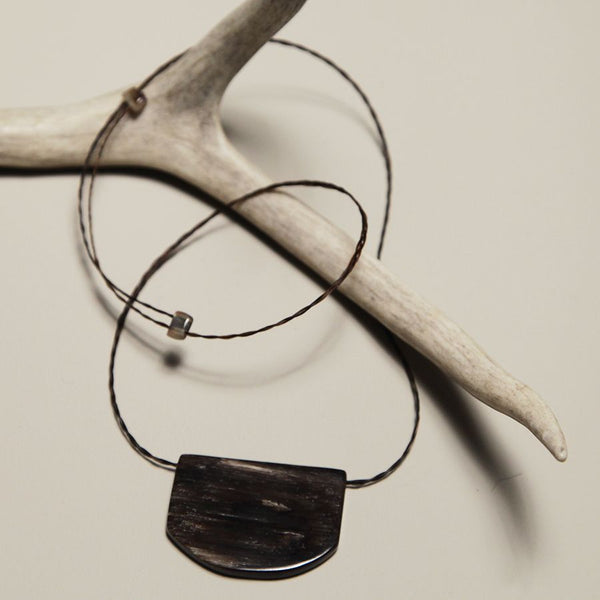 Sheep Horn 'Shield' Pendant Necklace