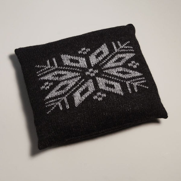 'North Star' Embroidered Throw Pillow
