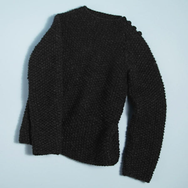 Horn Button Shoulder Sweater
