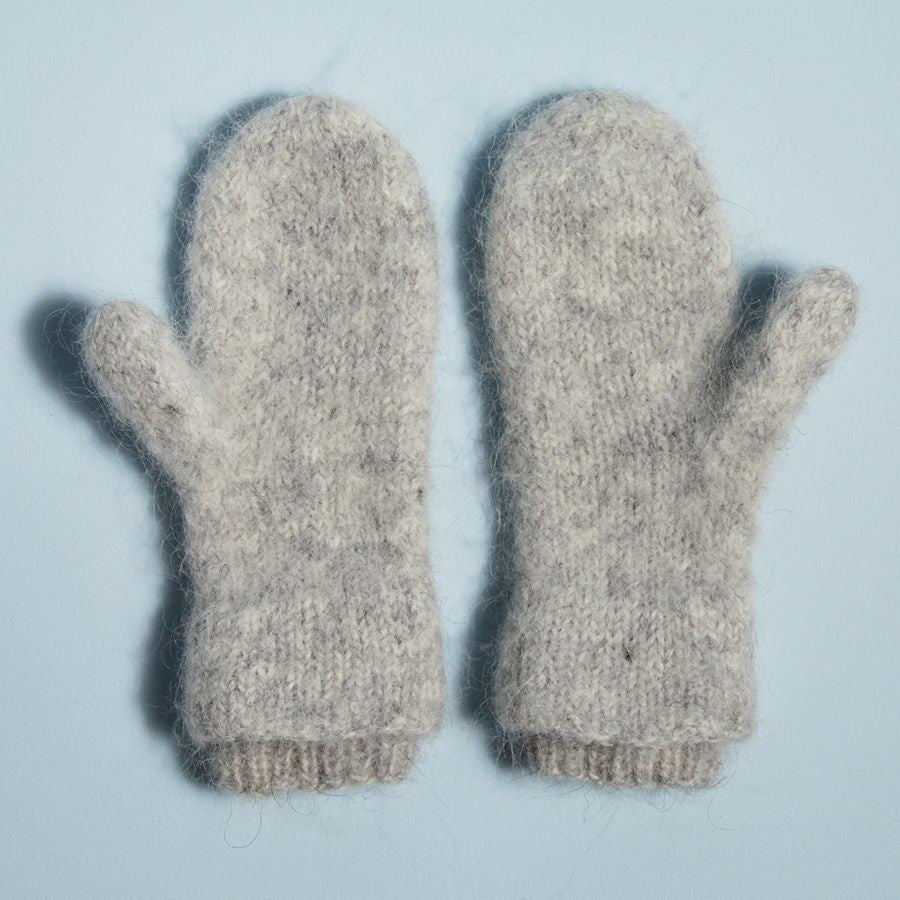 Ribbed Cuff Mittens