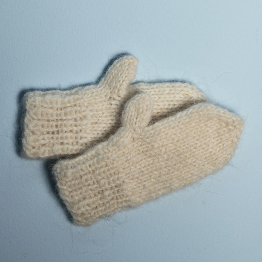 Tiny Hand Knitted Lambswool Mittens