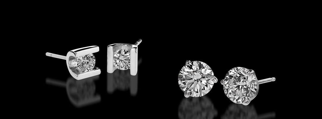 the intensely brilliant and distinctive selection of John Atencio diamond studs.