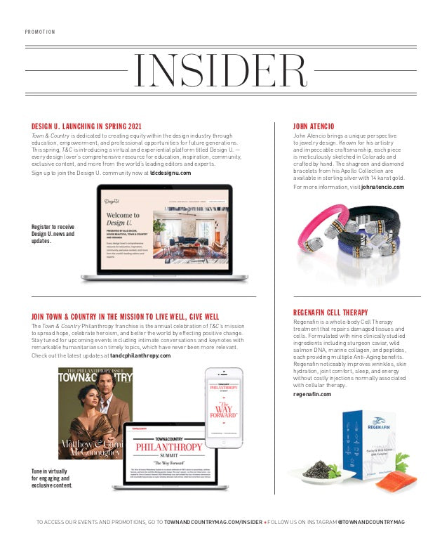 As Seen in March Town & Country Insider