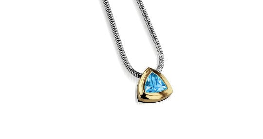 arrivo trillion solitaire pendant necklace silver jewelry gift for mom