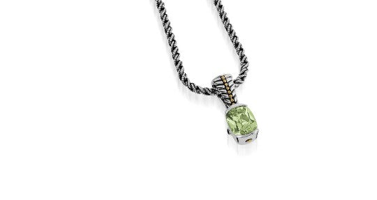 entwine gemstone small pendant necklace silver jewelry gift for mom
