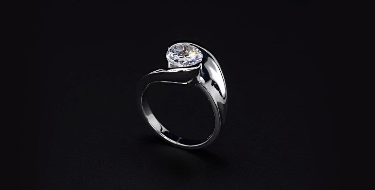diamond ring with a mohs hardness of 10