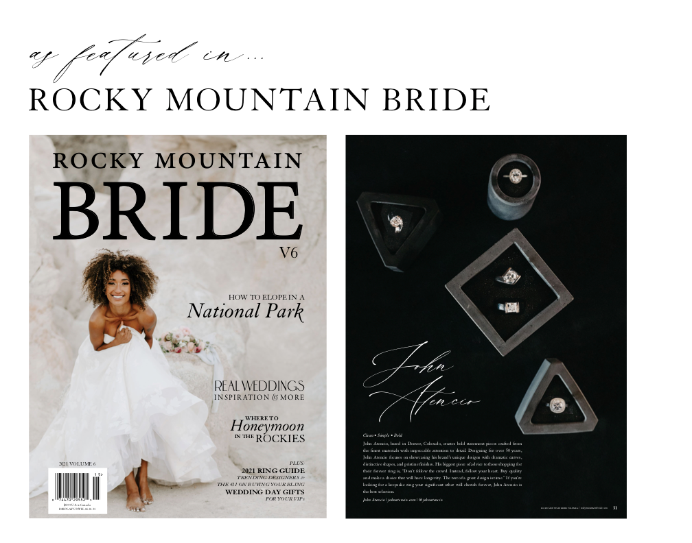 As Featured in Rocky Mountain Bride